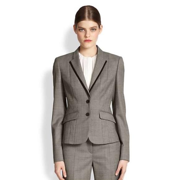 a390bac4f63 Hugo Boss Jackets   Blazers - Hugo Boss Julieta Gray mini check Blazer Sz. 8